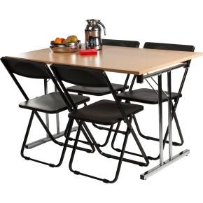 Bord med klapstel 120x80 cm, bøg melamin