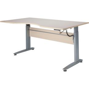 VIKING hæve/sænkebord 180X90, ahorn melamin / alu
