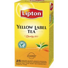 Lipton Yellow Label te, 25 x 2g