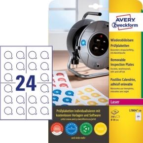 Avery Inspektionsdatoetiketter, aftagelige, Ø30 mm