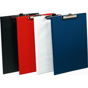 Bantex clipboard A4, med omslag, rød