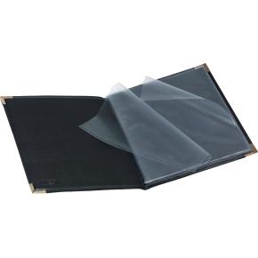Bantex præsentationsmappe med 6 lommer, sort