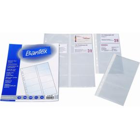 Bantex visitkortlomme A4, 20 kort, 100stk