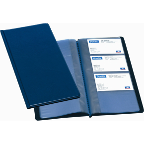 Bantex visitkortmappe, blå