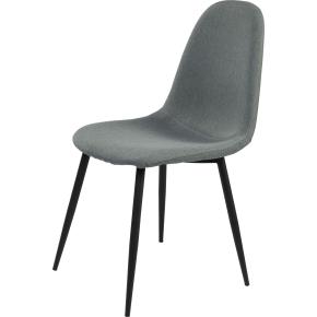 Room mødestol, grå m/ sort metalstel