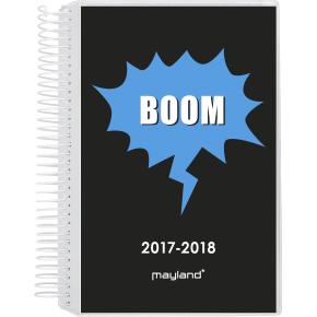 Mayland Stor studiekalender, 1 dag, m/2 ill.+ klap