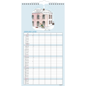 Mayland Familiekalender, Morsom, 5 kolonner