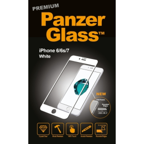 PanzerGlass PREMIUM iPhone 6/6S/7, hvid