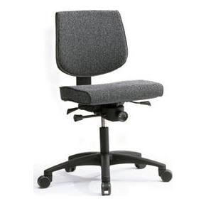 RBM 615 kontorstol med sort stel grå oxford