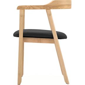 NOFU mødestol, Natur asketræ m/ kokssort sæde
