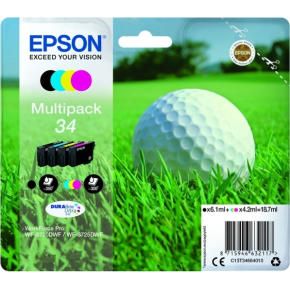 Epson 34 blækpatron, sampak, 4 farver
