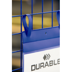 Durable Lagerlommer m/stropper, A4 højformat