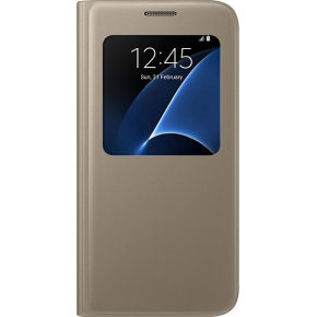 "Samsung S-View Cover 5.1"" Flip case t/S7, guld"