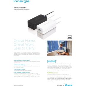 Innergie PowerGear 65, strømforsyning i hvid