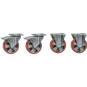 Hjul til tipcontainer (2+2) polyurethan