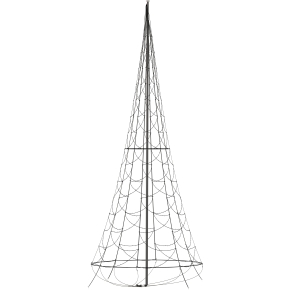 Lyskæde til flagstang m/ 960 LED lys, H 600 cm
