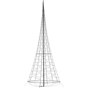 Lyskæde til flagstang m/ 1200 LED lys, H 800 cm