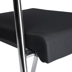 MODERN konferencestol i krom stel med sort betræk