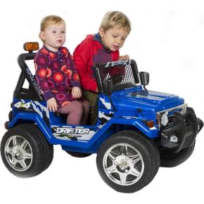 El-drevet 12V Azeno Buffalo Jeep, blå