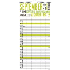 Mayland Familiekalender, TrendArt,  5 kolonner