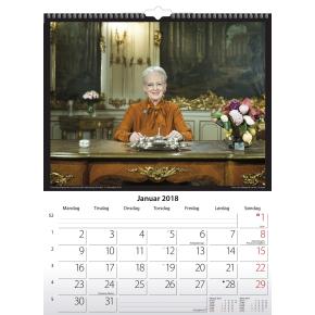 Mayland Vægkalender, 12 måneder, Kongehuset