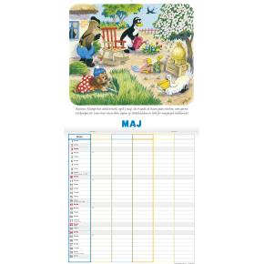 Mayland Familiekalender, Rasmus Klump, 5 kolonner