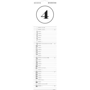 Mayland Vægkalender, 12 måneder, Simple motiv