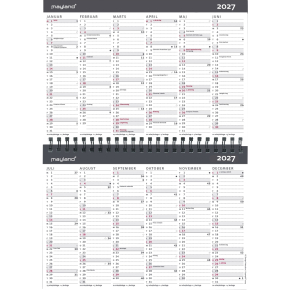 Mayland 10 årskalender, 1 år pr. opslag, A5