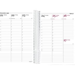Mayland A6 ugekalender Weekly, højf, guld-rosa