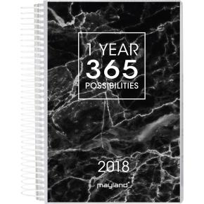 Mayland Spiralkalender, dag m/4 illu.er
