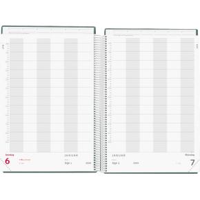 Mayland A4 Aftalekalender 2018, dag, sort