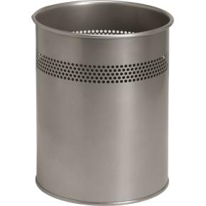 Twin Metal Papirkurv 15 liter, sølv
