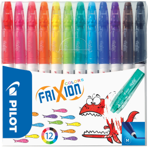 Frixion Colors fiberpenne, ass. farver, 12 stk.