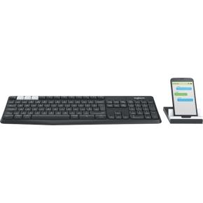 Logitech K375s FLOW tastatur+holder, nordisk