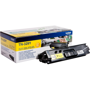 Brother TN-329Y lasertoner, gul, 6000s, twin-pack