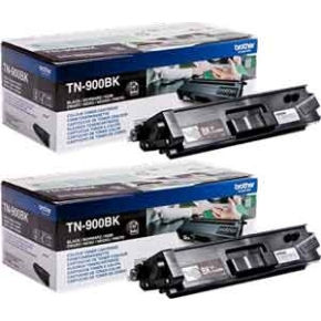 Brother TN900BK lasertoner, sort, 6000s, twin-pack
