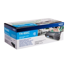 Brother TN900C lasertoner, Cyan, 6000s, twin-pack