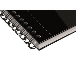 Oxford Smart Black Spiralbog A5, linjeret, sort