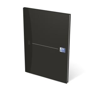 Oxford Smart Black Notesbog A4, linjeret, sort