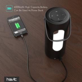 Havit transportabel Bluetooth højttaler, sort
