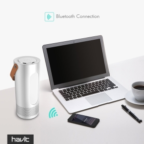 Havit transportabel Bluetooth højttaler, sølv
