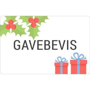 Gavebevis 2017 kr. 400 - leveres uge 49