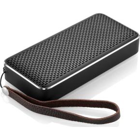 Bluetooth højttaler med kraftfuld powerbank - Sølv