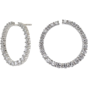 Joanli Nor Jewellery Twisted ørest. 21 mm, sølv/cz