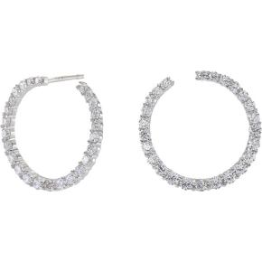 Joanli Nor Jewellery Twisted ørest. 15 mm, sølv/cz