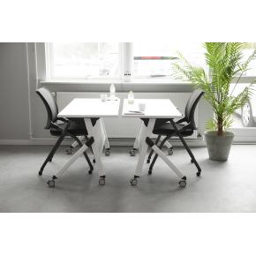 Flip-top bordsæt, 1 bord og 2 learn stole