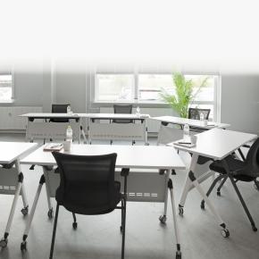 Flip-top undervisningssæt, 1 bord og 2 Learn stole