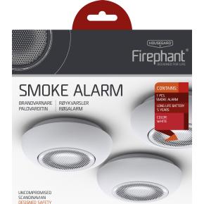 Housegard Firephant optisk røgalarm SA800S, hvid
