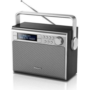 Philips AE5020 transportabel DAB+/FM radio, sort