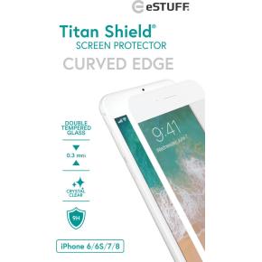 eSTUFF skærmbeskyttelse til iPhone 6/6s/7/8, hvid